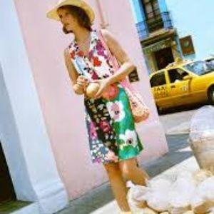 Anthropologie Dinah Collared Halter Tunic Dress